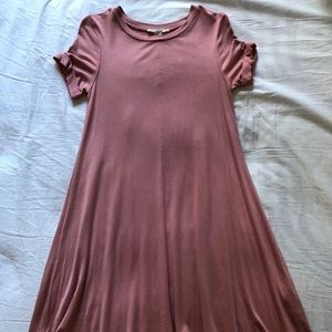 FOREVER 21 BLUSH T-SHIRT DRESS